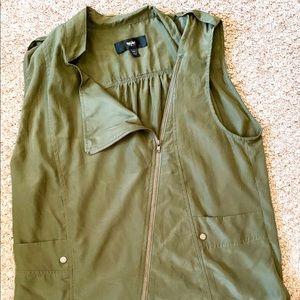 Asymmetrical Military Green Vest
